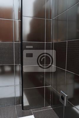 Carrelage wandbild noir salle de bain moderne fototapete ...