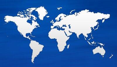 Fototapete Carte du monde
