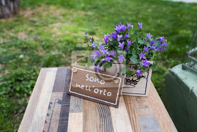 Decorazioni In Legno Per Giardino : Cartello scritto ein mano in legno per orto e giardino