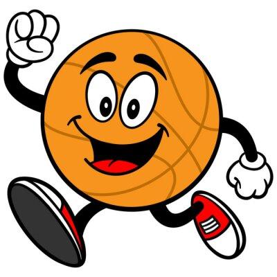 Cartoon Basketball Laufen