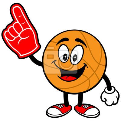 Cartoon Basketball mit Schaum-Finger