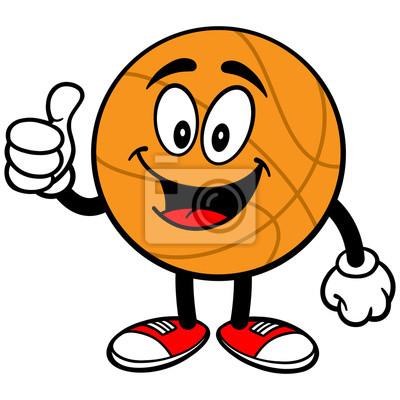 Cartoon Basketball Thumbs Up