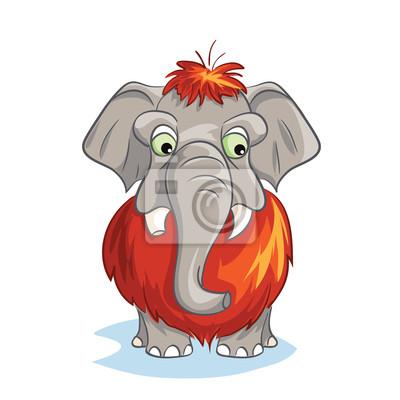 Cartoon-Bild von einem Baby Mammut.