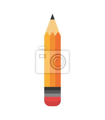 Fototapete Cartoon Bleistift schreiben Schule Design Vektor-Illustration eps 10