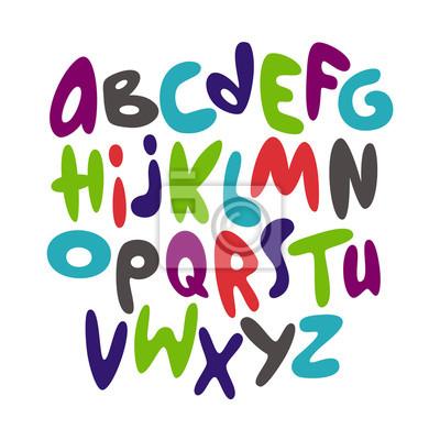 Cartoon Comic-Graffiti-Schriftart Alphabet. Vektor