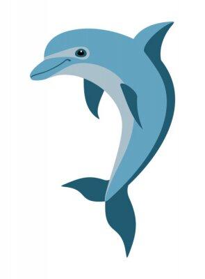 Fototapete cartoon dolphin