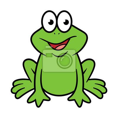 Cartoon Frosch Charakter Fototapete Fototapeten Bockspringen