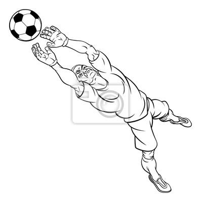 Fototapete Cartoon Fussball Fussball Torwart Spieler