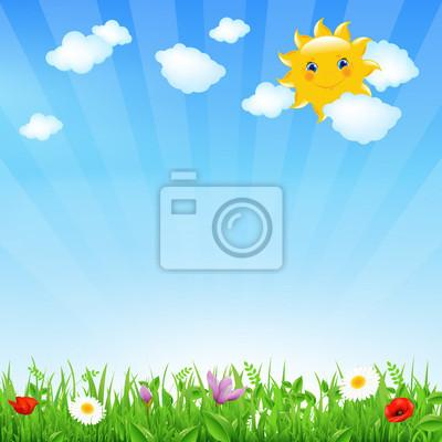 Cartoon-Landschaft mit Sun