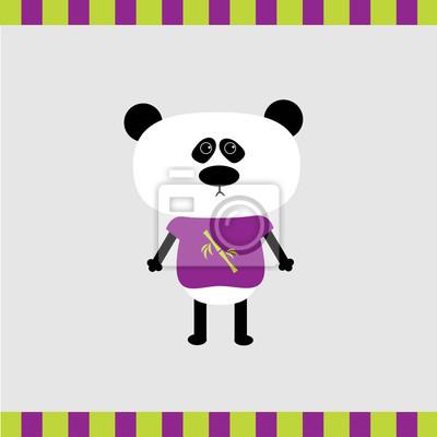 Cartoon Panda-Jungen-Karte
