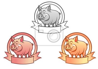 Cartoon-Schwein
