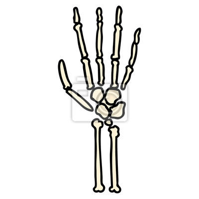 Cartoon-skelett hand fototapete • fototapeten unruhig, Knochen ...