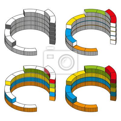 Cartoon-Stil. Elemente der Infografiken für Unternehmen. Vektor