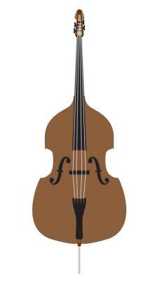 Cartoon Style Double Bass