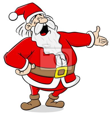 Fototapete Cartoon Weihnachtsmann