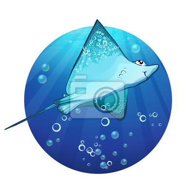 Cartoon-Zeichnung eines Fisches Rampe.