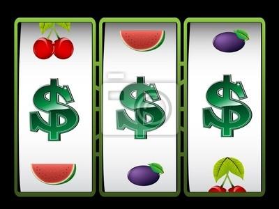 Casino Spielautomat Mit Dollar-zeichen Fototapete • Fototapeten