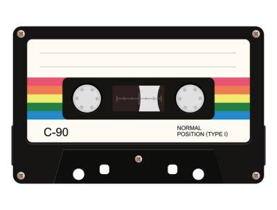 Fototapete Cassette tape. Vector illustration
