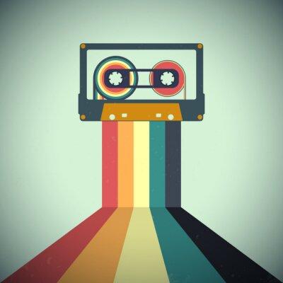 Fototapete Cassettes music retro style. Vector illustration