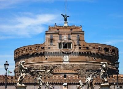 Castle St Angelo in Rom, über einem blauen Himmel, Itlay
