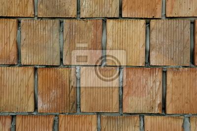 ceglasty mur z porothermu
