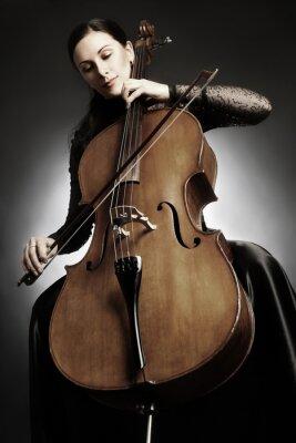 Fototapete Cellospieler Cellist spielen