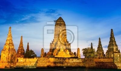 Chaiwatthanaram Tempel in Ayutthaya, Thailand