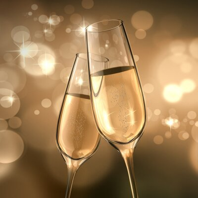 Fototapete Champagner-Date
