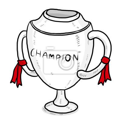 Fototapete Champion-Pokal