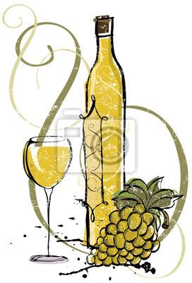 Chardonnay-Weinlese-Auswahl