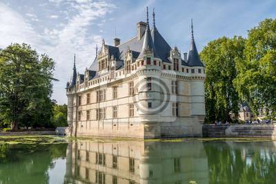 Chateau de azay-le-rideau frankreich. schloss des loire-tals ...