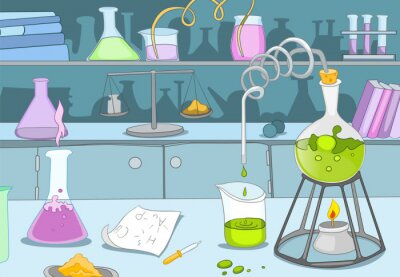 Fototapete Chemische Labor