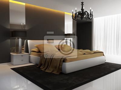 Chic Luxus Hotel Gold Schwarz Schlafzimmer Kronleuchter