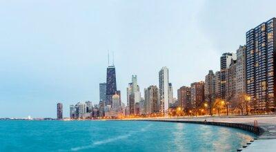 Fototapete Chicago Panorama Lake Michigan