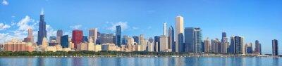 Fototapete Chicago Skyline Panorama mit Lake Michigan, IL, Vereinigte Staaten