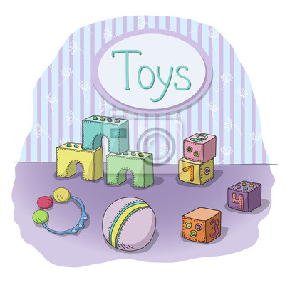 children's toys in the room