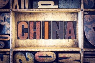 Fototapete China-Konzept-Buchdruck-Art