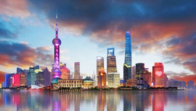 Fototapete China - Shangahi skyline