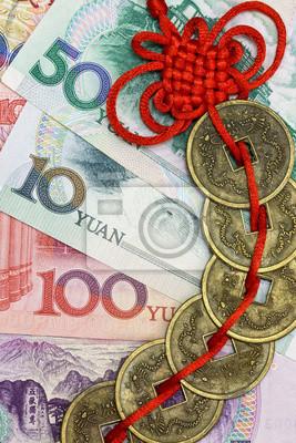 Chinas Geld Und Feng Shui Münzen Fototapete Fototapeten