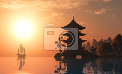 Fototapete Chinesischen Hause