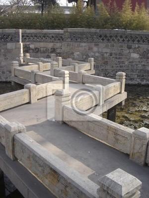 Chinesischer Garten Brücke Fototapete Fototapeten Brücke Stein