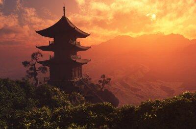 Fototapete Chinesisches Haus