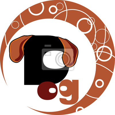 Chinesisches horoskop - jahr des hundes fototapete • fototapeten ...