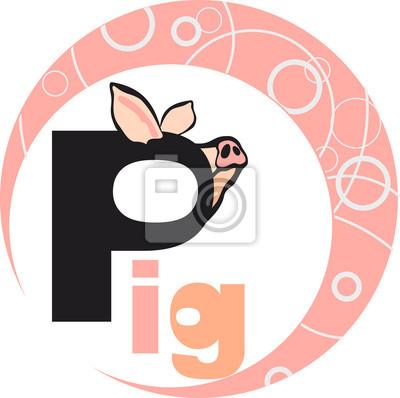 Chinesisches horoskop - jahr des schweins fototapete • fototapeten ...