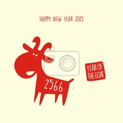 Chinesisches Jahr der Ziege 2015 gong xi Fett chai