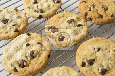 Chocolate Chip Cookie und Abkühlende Zahnstange