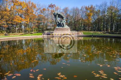 Chopin Statue In Lazienki Park Warschau Polen Fototapete