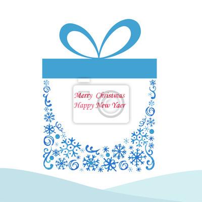 Christmas box gift.