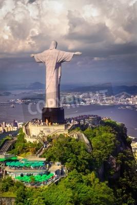 Christusstatue Auf Dem Corcovado Rio De Janeiro Brasilien
