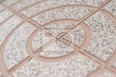 Circle Design Stein Details Der Bodenfliesen Fur Garten Im Freien